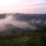 mist rising after a storm