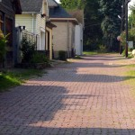 photo of brick alley
