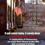 MAIN STREET ON ELECTION DAY