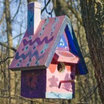 hand-painted bird house