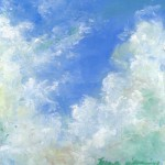 pastel painting of clouds