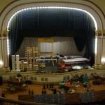 stage set under construction
