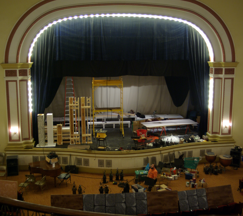 stage set under construction