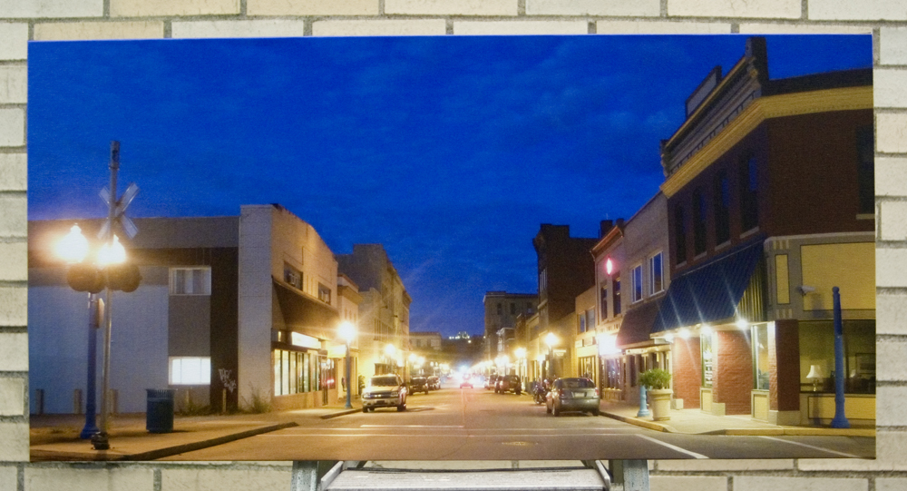 canvas print of main street