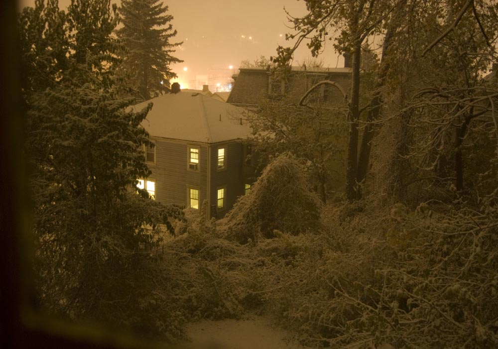 photo of snowy night