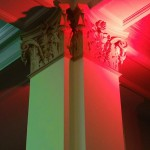 corinthian columns in library