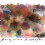 flesh-toned pastels on paper