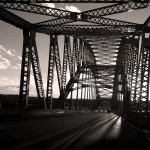 shadoes on bridge