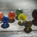 colorful marbles in the sun