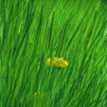 "original art original pastel ""Spring Grass"", pastel on multi-media paper, 7"" x 10"" © Bernadette E. Kazmarski"