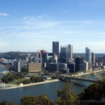Downtown Pittsburgh on a lovely October day.