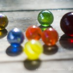 marbles on a table
