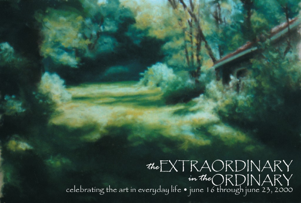 The post card invitation to my first solo exhibit.