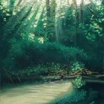 """Morning on the Creek"", pastel, 22"" x 29"", 2008 © Bernadette E. Kazmarski"