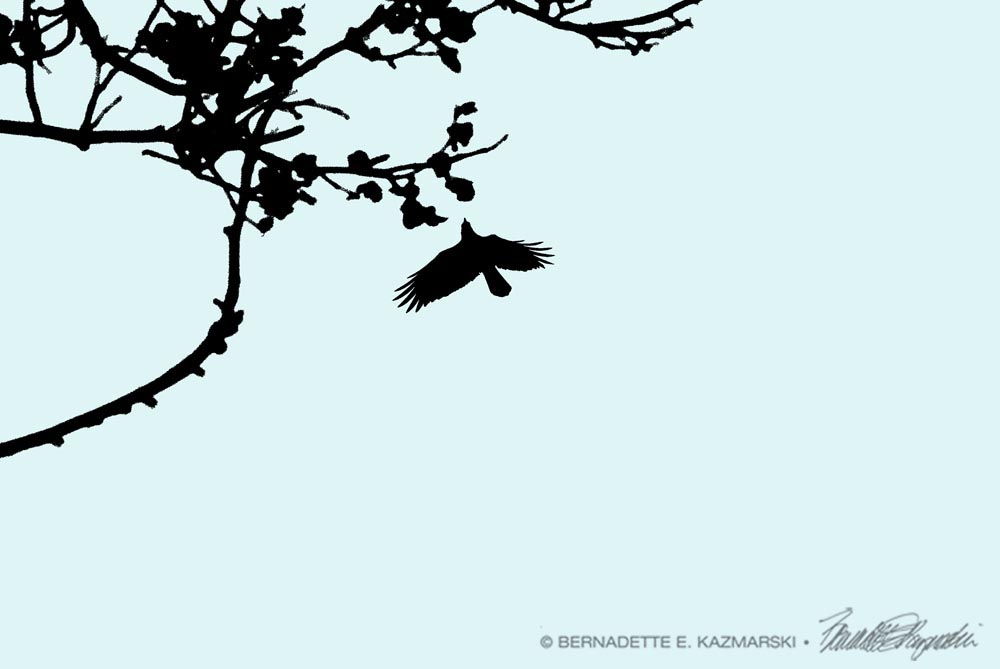 Crow and Branch Art