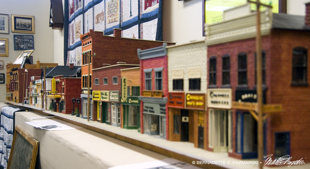First block of East Main street, right side, model.