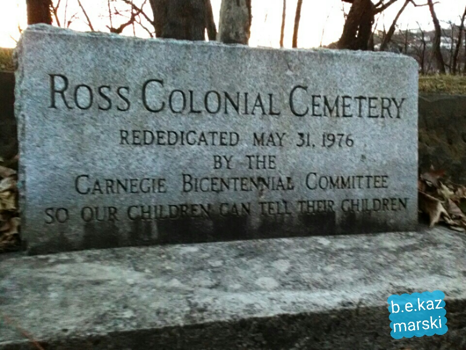 Ross Colonial Cemetery marker